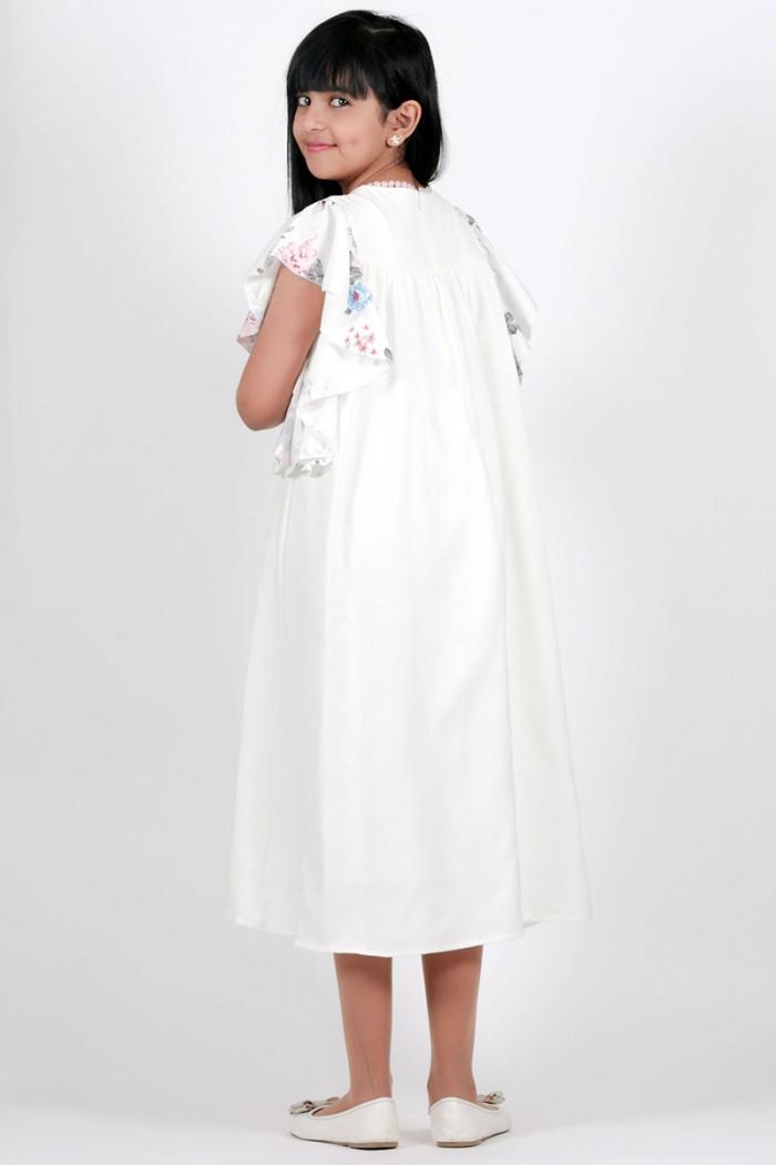 فستان صيفي جديد 2021 لون ابيض