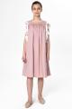 فستان صيفي جديد 2021 وردي